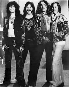 Led Zeppelin (L to R): Jimmy Page, John Bonham, Robert Plant, John Paul Jones (Photo Credit: Atlantic Records)