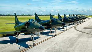 Draken A-4 Skyhawks with Fourth Generation Avionics