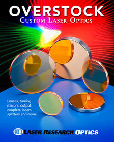 Overstock custom laser optics parts