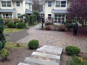 System Pavers donated patio and steps
