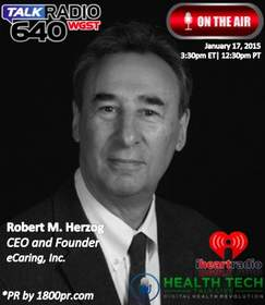 eCaring Robert Herzog Clear Channel Interview iHealth Ben Chodor 1800pr