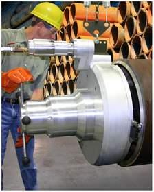 The Terminator MILLHOG(R) Pipe Beveling Tool