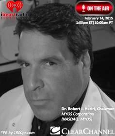 MYOS Corporation, Dr. Robert Hariri. MYOS, Clear Channel, 1800pr