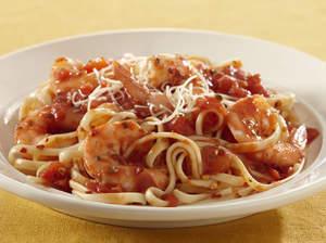 Shrimp Pasta with Spicy Tomato Sauce Recipe