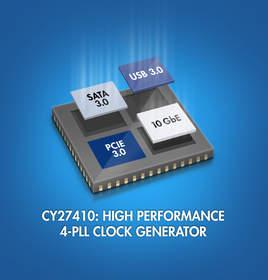 Cypress 4-PLL high-performance programmable clock generator