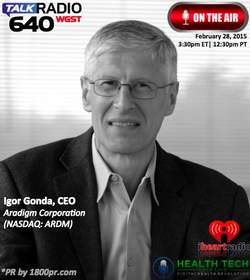 Aradigm Corporation, Igor Gonda, Clear Channel Interview, The Traders Network Show, 1800pr