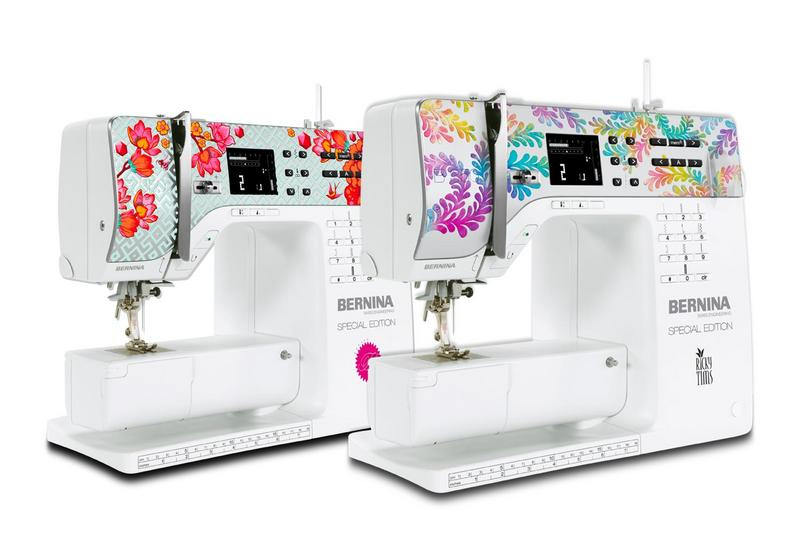 BERNINA Introduces the BERNINA 350 Special Edition With Tula Pink and Ricky Tims Faceplate Designs