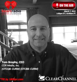 Cur Media, Cur Music, Tom Borphy, Clear Channel Interview, 1800pr