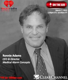 Ronnie Adams, Medical Alarm Concepts, Clear Channel Interview, The Trader's Network Show, 1800pr