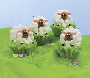 Easter Lamb Carrot Cupcakes
