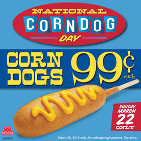 Celebrate National Corn Dog Day With Wienerschnitzel- March 22