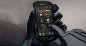 Kyocera DuraForce smartphone with Cypress TrueTouch touchscreen