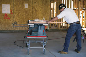 In addition to its Active Response Technology injury mitigation system, the Bosch REAXX Portable Jobsite Table Saw features enhanced motor electronics, optimized maximum horsepower and excellent cutting speed.