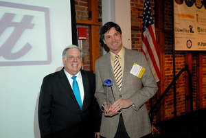 Smith Yewell, CEO of Welocalize and Larry Hogan, Governor of Maryland at World Trade Center Institute 2015 Maryland International Business Leadership Awards.