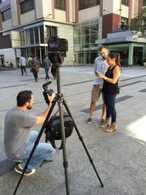 Tech PR video shoot