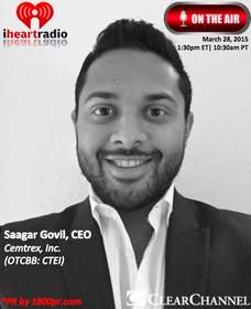 Cemtrex, Inc., Saagar Govil, CEO, Clear Channel Interview, The Traders Network, 1800pr