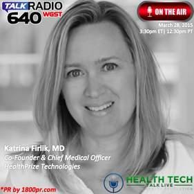 HealthPrize Technologies, Katrina Firlik, Clear Channel Interview, HealthTech Talk