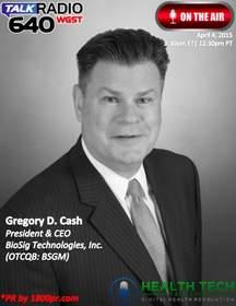 Gregory Cash, CEO, BioSig Technologies, BioSig, BSGM, Clear Channel Interview, HealthTech Talk