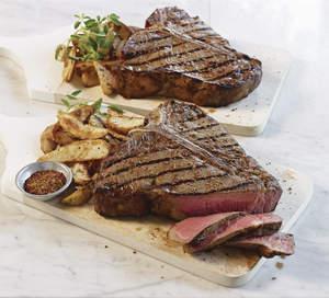 T-Bone Steaks with Dad's Steak Rub