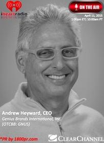 Genius Brands, Clear Channel Interview, 1800pr, Andy Heyward, GNUS