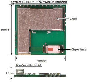 Cypress EZ-BLE PRoC Bluetooth Smart module