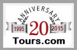 Tours.com 20th Year Anniversary