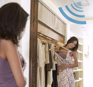 Sensormatic RFID technology for extended visibility in fitting rooms.