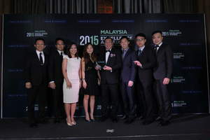 The Mah Sing Group team with the 2015 Frost & Sullivan Excellence in Growth - Building Construction Industry Award