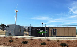 Combined wind, solar and battery storage micro-grid installation using Dynapower inverters at company headquarters in South Burlington, Vermont