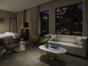 The new Terrace Junior Suite at the Quin Hotel in NYC