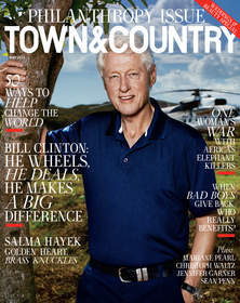 town & country, philanthropy summit, bill clinton, giving, philanthropist, charity
