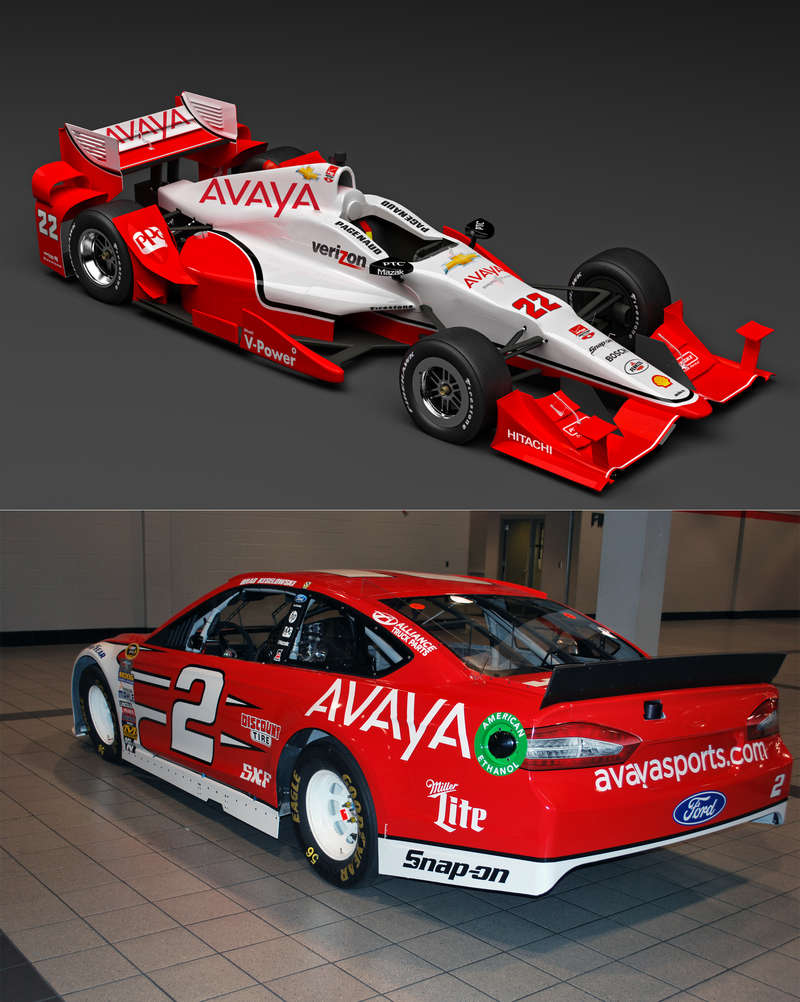 Avaya to Partner With Team Penske in Both the Verizon IndyCar Series and NASCAR Cup Series