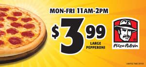 Pizza Patron's $3.99 Deal Sizzles!
