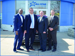 All-Star Honda partners: Mark Wade, Jerry Cousin, Jr., Jerry Cousin, Sr. and Jon Palmen