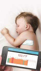 TempTraq is the only wearable, wireless thermometer in the form of a soft comfortable patch.