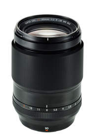 Fuji's new 90mm f/2 weather-resistant prime lens, available for pre-order now at Adorama.com.