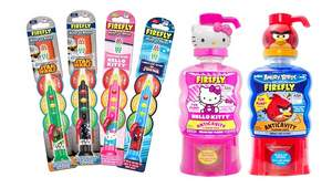 Firefly Ready Go LightUp toothbrush and Fun Pump Rinse