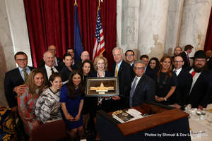 Homeland Security Chairman Senator Ron Johnson presents Judith Alter Kallman