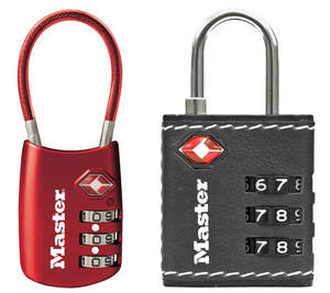 Master Lock 4688D and 4692D TSA-Accepted Luggage Locks