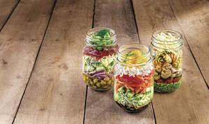 Lemon Pesto Mason Jar Pasta Salad