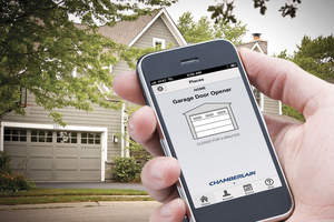 smart phone technology with garage doors