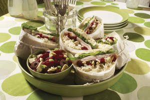 Picnic-Wiches With Greek Artichoke-Beet Relish