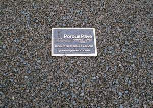 Porous Pave: Porous, Durable and Flexible Paving Material Made with Recycled Rubber and Aggregate
