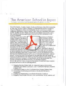 The newly appointed Board of Directors for the American School in Japan recently issued a public apology admitting that teachers and administrators failed to protect the students in their charge.