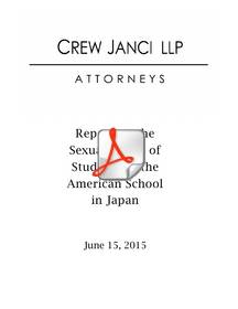 The 13 sexual abuse victims from the American School in Japan have released their own investigative report detailing the decades of abuse and cover-up that took place at the elite private school in Tokyo.