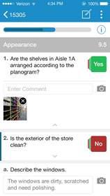 Sample Screen of the SureAudit App