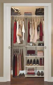 organized closet for college