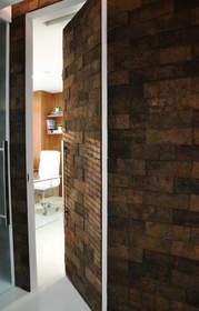 Cork Bricks Complement Both Casual and Cosmopolitan D�cor