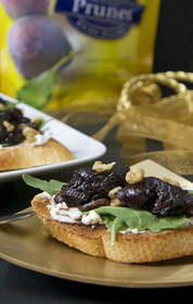 Balsamic Prune and Goat Cheese Bruschetta