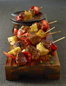 Sweet and Spicy Pork Mini-Kabobs